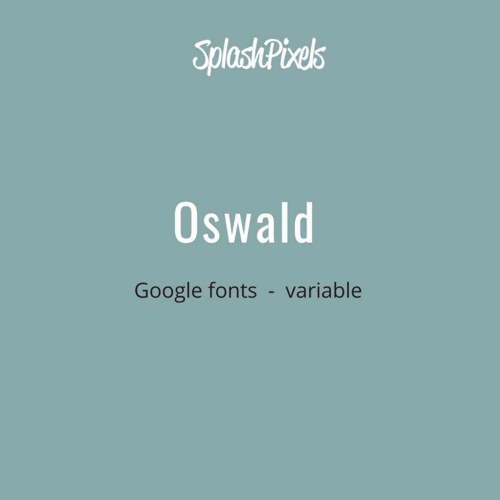 Google-Fonts-Oswald