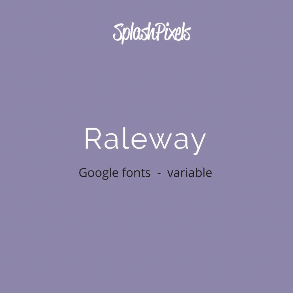 Google-Fonts-Raleway